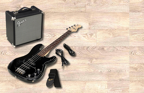 Ver  Fender Squier Affinity PJ Bass Pack Black