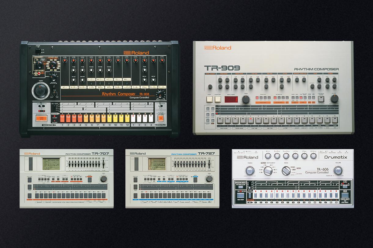 Roland TR-808, TR-606, TR-909, TR-707, TR-727