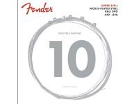 Fender 250R NPS BALL END 10-46  As cordas de aço niquelado (NPS) de 250 gramas combinam o alto rendimento e o som dinâmico do aço com a sensação suave do níquel; Perfeito para rock e outros estilos de música.