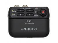 Microfone de lapela Zoom F2  O Zoom F2 permite que a tecnologia mais avançada na captação de áudio, esteja acessível a todos e caiba no teu bolso. É o gravador portátil com microfone de lapela, da Zoom, mais leve de sempre.