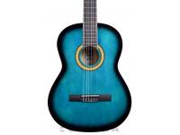 Guitarra Clássica (adulto) 4/4 Ashton SPCG44 TBB - TRANSPARENT BLUE BURST  Guitarra clásica SPCG44 TBB - BURST AZUL TRANSPARENTE con bolsa