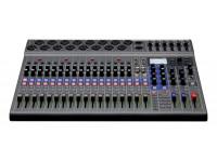 Zoom LiveTrak L-20  O interface áudio Zoom LiveTrak™ L-20 é o novo equipamento digital que vais querer no teu estúdio, ou nas tuas actuações, ou nos teus ensaios, até porque o Zoom LiveTrak L-20 oferece tudo que os criadores precisam para misturar, monitorizar e/ou gravar produções complexas. Com 20 canais de áudio e 6 saídas para headphones ou escutas em monitor, o Zoom LiveTrak L-20 é amelhor opção para quem procura 3 produtos num só e, com isso, conseguir poupar em tempo, em espaço e em carteira.