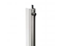 Adam hall 6162 Rack Strip   Rackrail  Material: Alumínio  Stepless  Porca sextavada com borracha  Dimensões do interior de madeira: 50 cm  Entregue em peças de 1 m