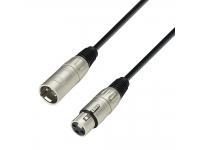 Cabo de microfone Adam hall K3MMF0050  Adam hall K3MMF0050 Cable de micrófono simétrico, conectores XLR en ambos extremos. Equipado con conectores de placa base  Adam Hall cofre y un cable de alta calidad. A pesar del diámetro externo reducido, estos cables tienen un alto  Estabilidad y excelentes características.