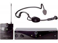Sistema sem fio com microfone de cabeça AKG PW45 Sports  Microfone de CabeçaAKG PW45 Sports -Sistema Sem Fio AKG Perception Wireless Sports - Electrónica: Largura de banda: 40 Hz - 20 kHz - Alcance de frequência: 500 MHz - 865 MHz -Canais seleccionáveis: 12000; Emissor