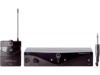 AKG PW45 Instrumental B-Stock   O Perception Wireless é projetado para atender os músicos e técnicos de áudio em nível inicial. Possui até 8 canais por banda. A linha Perception Wireless Instrumental consiste em um transmissor PT 45, mais um cabo de instrumento um receptor SR 45