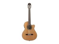 Alhambra 3 C-CW-E1   Guitarra Clássica Alhambra 3 C-CW-EI  Tampo: cedro maciço  Fundo e ilhargas: sapelly  Braço: samanguila  Escala: pau santo  Carrilhões: niquelado  Preamp: Fishman E1 Clasica M