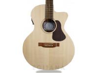 APC EA 100 CW  Guitarra electro-acústica com cut away, em cor natural, fabrico Português.   Poro aberto  Tampo: Spruce Maciço  Aros e Fundo: Sapelli