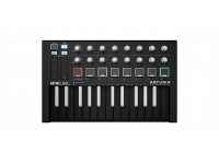 Arturia MiniLab MKII Inverted Edition  Main Features  25 note velocity-sensitive slim keyboard 2 banks of 8 high quality velocity & pressure sensitive pads with RGB backlighting 16 rotary encoders (2 of them are clickable) 2 capacitive touch sensors for pitch bend and modulation