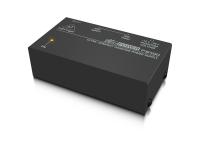 Behringer PS400-UE  Divisor de Sinal BEHRINGER PS400-UE  caixa de pré-amplificação de microfone para permitir a utilização de microfones de condensador; compatibilidade universal; entrada de áudio XLR e respetiva saída de sinal amplificado XLR; seletor de amplificação entre +12 V e +48 V.