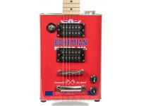 """Bohemian OIL CAN BG15MO Motor Oil  Guitarra eléctrica Bohemian Guitars Oil Can BG15MO Motor Oil  Cuerpo: lata de aceite con estructura de madera  Mástil: Acer / Maple  Escala: Acer / Maple 25.5 """"(648 mm); Radio: 12"""" (305 mm); Peine: 42,5 mm.  Articulación del cuello: a través del cuerpo  Incrustaciones: negro  Corte: 21  Hardware: Hardware: Chrome  Trastes: 21  Electrónica: pasiva"""