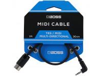 Cabo TRS/Midi BOSS BMIDI-1-35 Cabo TRS/MIDI 30cm   Compra os teus Cabos BOSS na Egitana, Fazemos Entregas Rápidas, Somos uma Loja Portuguesa - Garantia Vitalicia da BOSS.