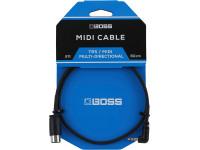 Cabo TRS/Midi BOSS BMIDI-2-35 Cabo TRS/MIDI 60cm   Compra os teus Cabos BOSS na Egitana, Fazemos Entregas Rápidas, Somos uma Loja Portuguesa - Garantia Vitalicia da BOSS.
