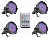 Luzes LED Cameo Flat PAR RGB 10 Bundle