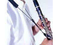 Correia para Clarinete Correia Clarinete BG C20E  Correia Nylon, com reforço almofadado, cordão elástico, dois suportes em couro .