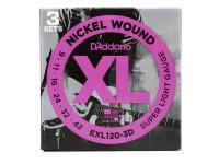 Jogo de cordas para Guitarra Elétrica D´Addario  EXL120-3D