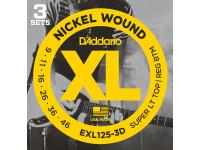 Jogo de cordas para Guitarra Elétrica D´Addario  EXL125-3D