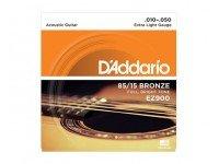Jogo de cordas .010 D´Addario Jogo Cordas Aço Bronze 010 Guitarra Acústica EZ900  Jogo de Cordas de Aço Bronze 010 para Guitarra Acústica D'ADDARIO EZ900