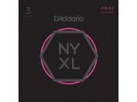 Jogo de cordas para Guitarra Elétrica D´Addario  NYXL0942-3P