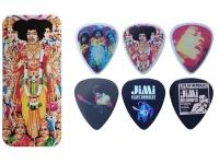 Dunlop Caixa em Metal com 12 palhetas Jimi Hendrix JHPT02M