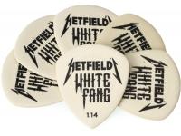 Dunlop PH122P114 James Hetfield White Fang Custom 1.14mm 6-Pack