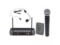 Central Microfone sem fios para 2 Canais Egitana Central Microfone S/ Fios 2 Canais Vhf 174/216mhz