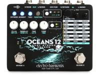 Pedal de efeitos para guitarra elétrica e baixo Electro Harmonix  Oceans 12 Reverb