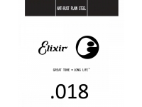 Corda para guitarra elétrica e acústica Elixir .018 Plain steel
