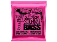 Ernie Ball 2834 Super Slinky  Cordas de baixo elétrico  Bitolas: 045-065 - 080-100  Som redondo, nítido e redondo