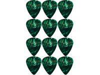Fender  351 Shape Premium Celluloid 12 Pack Green Moto