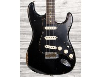 Fender Custom Shop Dual-Mag Strat Black Roasted Relic Ltd.