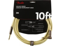Cabo de instrumento Fender Deluxe Instrument Cable, Straight/Angle, 10', Tweed