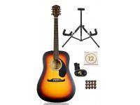 Pack de Guitarra Acústica Fender FA-125 Dreadnought Acoustic Sunburst Pack