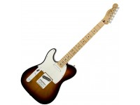 Guitarras Esquerdino Fender Std Telecaster LH MN BSB  Versión para zurdos  Cuerpo de aliso  Sunburst Marrón