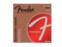 Jogo de cordas .011 Fender Jogo de Cordas Bronze 012 Guitarra Acústica Fender 880L Coated 012052  Jogo de Cordas Bronze 012 para Guitarra Acústica Fender 880L Coated 012052