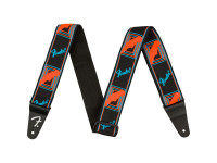 Fender Neon Monogram Guitar Strap - Blue/Orange