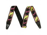 Fender Neon Monogram Guitar Strap - Yellow/Pink