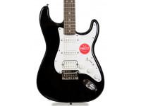 Fender Squier Bullet Strat HT HSS BK  Squier Stratocaster Bullet HSS Guitarra eléctrica, Puente fijo, Escala de palisandro, Negro