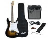 Pack de guitarra  Fender Squier Strat Pack SS Brown Sunburst
