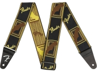 Fender Weighless 2'' Mono Strap Black/Yellow/Brown