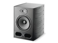 """Focal Alpha 80   O Focal Alpha 80 é um monitor de estúdio activo com um Bass Driver de 8"""" e um tweeter de de alumínio de uma polegada em forma de cúpula invertida. Ideal para produtores de música electrónica, DJs e Home-Studios, a série Alpha da Focal tem duas entradas diferentes para conexão de duas fontes, XLR e RCA, dois amplificadores classe AB com completo controle da dinâmica do sinal de áudio, permitindo a escuta em volume muito alto e sem distorção."""