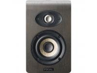 """Focal Shape 40  Projetado sem uma porta de graves traseira - permite posicionar diretamente na frente de uma parede  Potência: 50 W Classe AB  Woofer: 4 """"Cone de Linho  Tweeter: 1 """"Alumínio-Magnésio  Membrana dupla-passiva de 4 """"  Faixa de freqüência (+/- 3 dB): 60 - 35.000 Hz  Pico máximo de SPL a 1 m (sinal musical): 102 dB  Impedância de entrada: 10 kOhm  Configurações: Filtro passa alta, baixo, médio, alto  Interruptor de alimentação  Função de espera automática  Conexões: XLR e RCA  Rosca para suportes de teto e parede (acessórios de montagem não incluídos)  Dimensões (L x P x A): 161 x 200 x 257 mm  Peso: 5 kg  Carcaça: 12 mm MDF - vinil, nogueira, preto"""