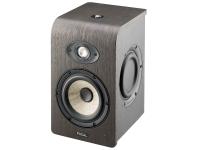 """Focal Shape 50  Projetado sem uma porta de graves traseira - permite posicionar diretamente na frente de uma parede  Potência: 85 W Classe AB  Woofer: 5 """"Cone de Linho  Tweeter: 1 """"alumínio-magnésio  Membrana dupla-passiva de 5 """"  Faixa de freqüência (+/- 3 dB): 50 - 35.000 Hz  Pico máximo de SPL a 1 m (sinal musical): 106 dB  Impedância de entrada: 10 kOhm  Configurações: Filtro passa alta, baixo, médio, alto  Interruptor de alimentação  Função de espera automática  Conexões: XLR e RCA  Rosca para suportes de teto e parede (acessórios de montagem não incluídos)  Dimensões (L x P x A): 191 x 242 x 312 mm  Peso: 6,5 kg  Carcaça: 12 mm MDF - vinil, nogueira, preto"""