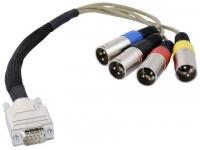 Focusrite cabo AES/EBU  Arnés de cable para AES / EBU  OctoPre o ISA428 / 430II  9 pines para 4x XLR  30 cm de largo  Adecuado para la Opción A / D OctoPre AES / SPDIF / ADAT  428 A / D o 430 II A / D  ISA One Digital