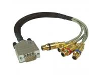 Focusrite cabo S/PDIF  Para salida OctoPre o ISA428 / 430II S / PDIF  9 pines para 4 x RCA hembra  30 cm de largo  Compatible con la opción OctoPre AES / SPDIF / ADAT A / D  428 A / D o 430 II A / D  ISA One Digital