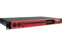 Focusrite Clarett 8Pre USB   Focusrite Clarett 8Pre USB  Interface de áudio Thunderbolt com 18 entradas e 20 saídas  Conversão 24/192  8 pré-amplificadores Focusrite  18 inputs de áudio  20 outputs  10 saídas analógicas  Porta Thunderbolt  S/PDIF IN/OUT  Sistema operacional compatível: OSX 10.9 Mavericks ou 10.10 Yosemite  Sample Rates: 44.1 kHz, 48 kHz, 88.2 kHz, 96 kHz, 176.4 kHz, 192 kHz