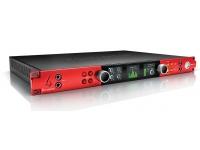 "Focusrite Red 4 Pre  Focusrite Red 4 Pre  Conexiones Pro Tools HD  Conexiones de red de audio Dante  24 bits / 192 kHz  8x convertidor AD: 4x preamplificador de micrófono remoto ""Evolution"" (XLR balanceado), 2x entrada Hi-Z (conector no balanceado), 8x entrada de línea (Sub-D balanceada)  Convertidor 14x DA: 2x Salida de monitor (conector balanceado), 8x salida de línea (Sub-D balanceada), 2x salida de auriculares estéreo  2x ADAT I / O  Coaxial S / PDIF  Word Clock I / O  32 x Dante I / O  2x puerto Thunderbolt  Dual Digilink para ProTools HD  Requisitos del sistema: Apple Mac con puerto Thunderbolt y Mac OS X 10.9, 10.10, 10.11  Dimensiones: 19 ""x 1U x 340 mm"