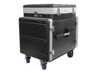 Caixa de rack pop-up Gator GRC-12X10 PU Moulded Pop-Up Rack Case, 12U Top, 10U Side