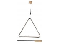 Gewa  Triângulo  15 cm Niquelado com Batente  Triângulo Gewa 15 cm Niquelado com Batente    -Liga de aço especial para melhor som  -Com batente  -Inclui alçaara prender
