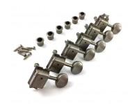 Conjunto de cabeça de máquina para guitarra elétrica Gotoh SD91-05M Aged Tuners 6L N